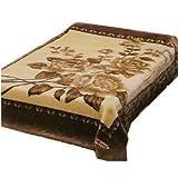 Solaron King Flower Beige Korean Mink Blanket Vietmam