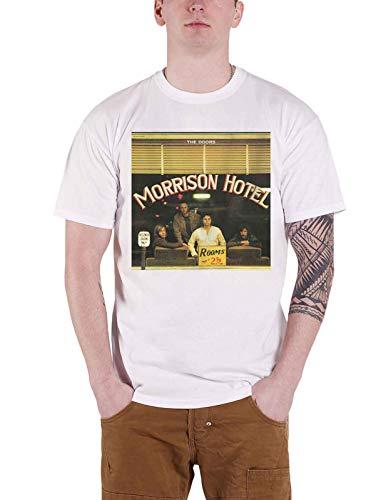 The Doors T Shirt Morrison Hotel Album Cover Band Logo Official Mens White Size M