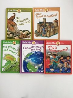 Ask Me (5 Book Set) Dinosaurs; Castles; Plants; Science; Space.
