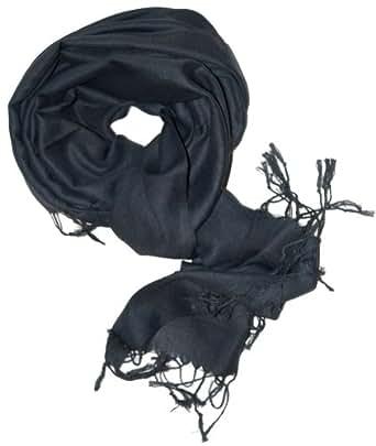 SethRoberts-A Luxurious Pashmina Silk Blend Scarf in Black