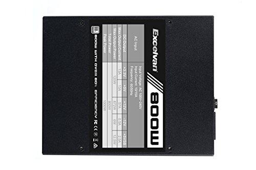 Excelvan ATX Computer Power Supply Desktop PC for Intel AMD PC SATA US (800W) by Excelvan (Image #6)