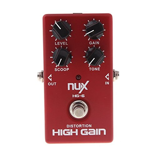 NUX HG-6 High Gain Distortion Electric Effect Pedal True Bypass