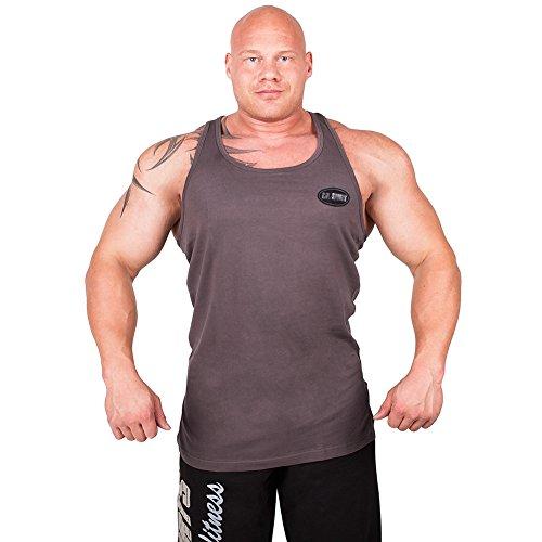 Olympian Tank-Top S6 - Farbe: Dunkelgrau, Bodybuilding & Kraftsport + Trainings T-Shirt