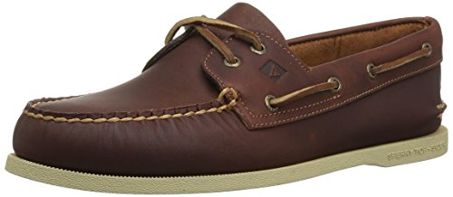 SPERRY Men's A/O 2-Eye Pullup Boat Shoe, Tan, 10.5