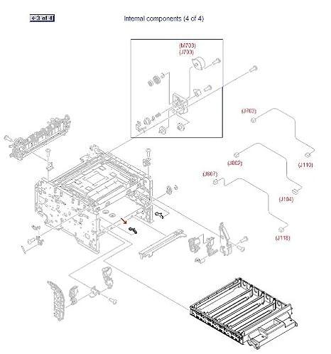 Sparepart Hp Inc Clamp Cartridge Tray Left Rc2 3108 000cn