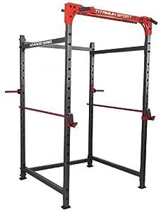 Jaula Power Rack Titanium para musculación y pesas: Amazon.es ...