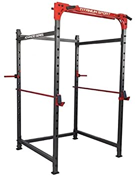Jaula Power Rack Titanium para musculación y pesas: Amazon.es ...
