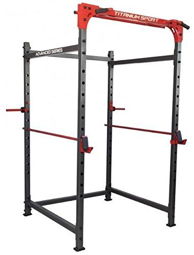 Jaula Power Rack Titanium para musculación y pesas: Amazon ...