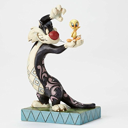 Jim Shore Looney Tunes Tawt I Taw a Puddy Tat Sylvester Tweety Figurine 4049386 (Jim Shore Cat Tall)