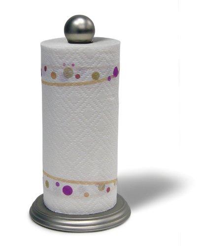 Luna Paper Towel Holder in Satin Nickel