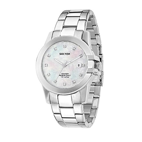 SECTOR Women's 480 Analog-Quartz Stainless-Steel Strap, Silver, 18 Casual Watch (Model: R3253597501