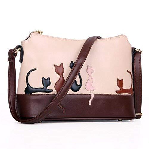 Womens Crossbody Chic Elegant Cat Rabbit Leather Purse Handbag Messenger Shoulder Bag