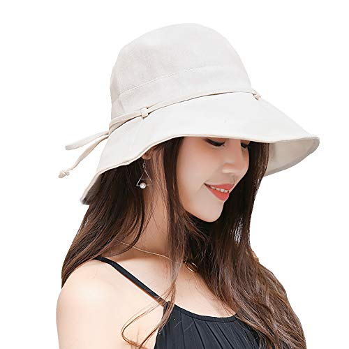 FaroDor Women Summer Sun Hat UV Sun Protection Wide Brim Cap Foldable Floppy Bucket Hat - http://coolthings.us