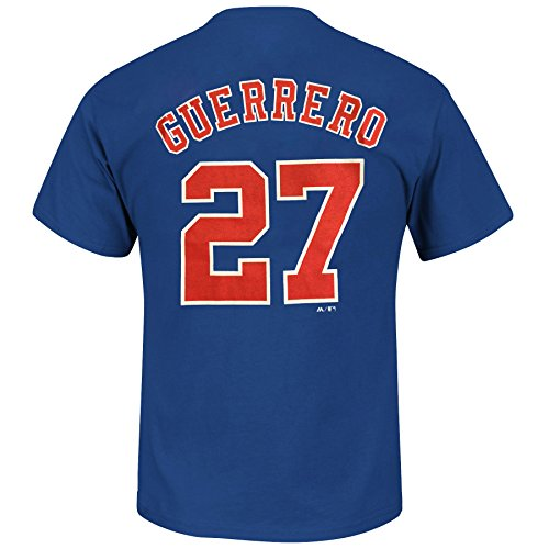 Majestic Cooperstown Player - Majestic Montreal Expos Vladimir Guerrero Cooperstown Player Name & Number T-Shirt - Medium