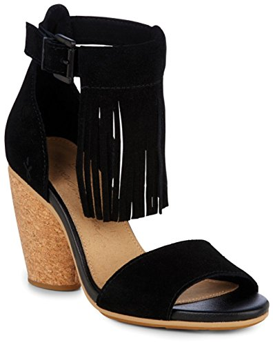 Nutbush Australia in Cow Bleeched EMU Sand Womens Heels Black Suede dtWWqA