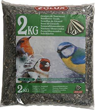 Zolux Graines de Tournesol Sac de 2 kg pour Oiseaux de la Nature