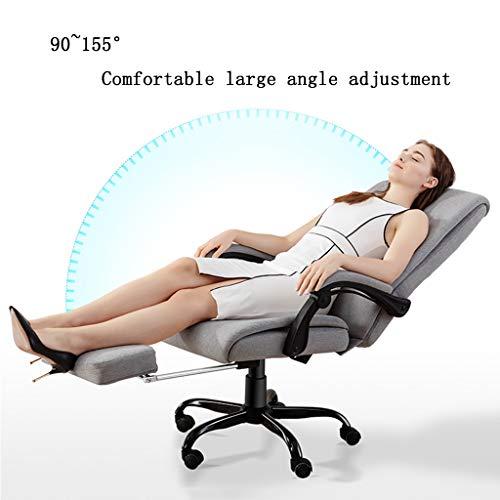 ZZHZY BBGS tyg kontor svängbar stol, vilande rotation lyft bekväm fåtölj företag personal chef verkställande stol, grå