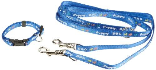 Trixie 15332 Welpenhalsband mit Leine, HB: 16-23 cm L: 2,00 m, blau