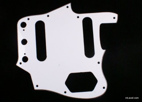 Custom Guitar Pickguard Fits Jaguar Jag style ,3ply White /Vintage Reissued