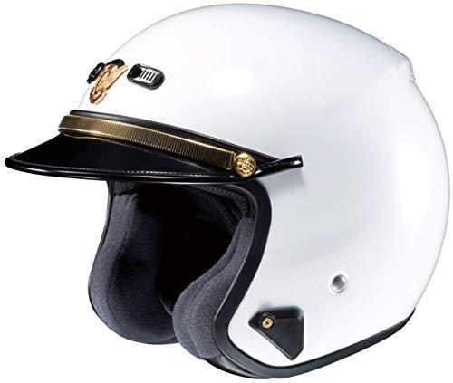 SHOEI RJ PLATINUM-R LAW ENFORCEMENT WHITE SIZE:XXL Motorcycle Open-Face-Helmet