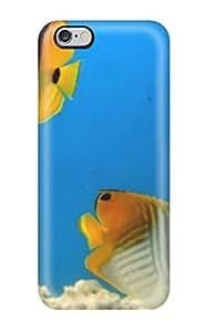 Hot Design Premium Iphone Tpu Case Cover Iphone 6 Plus Protection Case Yellow Aquarium Fish