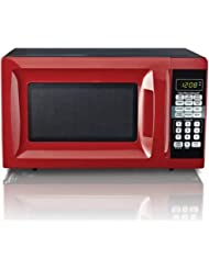 Hamilton Beach 0.7 cu ft Microwave Oven , features Child-safe lockout, 10 power levels (Red)
