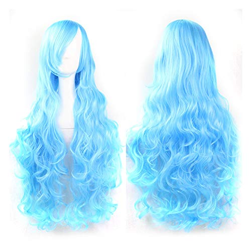 (Ourhomer  Clearance Sale Womens Girls Cosplay Costume Wigs Long Curl Wavy Red Halloween Party Anime Hair)