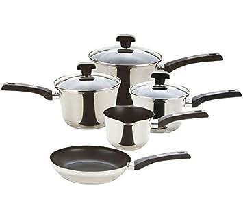Prestige DuraSteel - Juego de sartenes de acero inoxidable (5 piezas): Amazon.es: Hogar