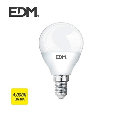 EDM Bombilla esferica led 6w 500 lumens e14 4.000k