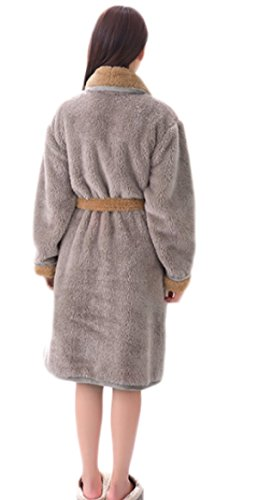 Mens And Ladies Soft Warm Bath Robe Coral Cashmere Gray Bathrobes Hotel Spa  Shower Robe Fashion Lightweight Leisure Couple Bath Robe 15688b44e