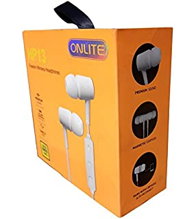 62fff300738 Onlite HP 13 Freedom Wireless Earphones Awesome Solid Bass Sound Including  Super Mic White