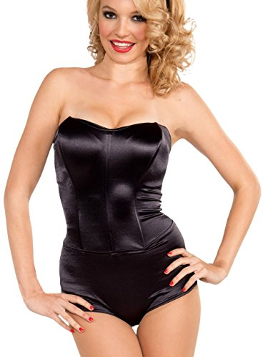 [Forum Novelties Women's Retro Pin-Up Costume Body Suit, Black, Medium] (Black Bodysuit Costume)