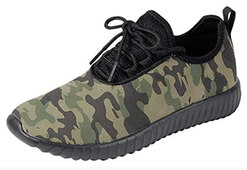 The Collection Jill Womens Athletic Shoes Casual Breathable Sneakers, Camouflage, 8.5