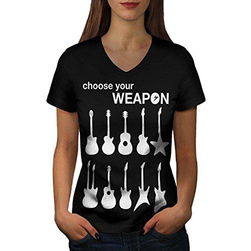 instrument-artwork-guitar-music-women-new-xl-v-neck-t-shirt-wellcoda