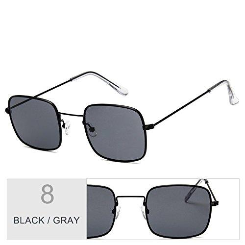 Gray Sobredimensionado Metal Gafas Marco Black Plateado TIANLIANG04 Claro De De De Sol Con Gafas Sol Mujer PgcIAqZ