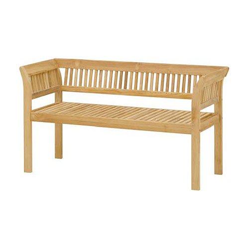 フウガ:ベンチ(クッション付)[高級チーク材製ガーデンベンチ 幅128.5cm、奥行51cm、高さ70cm] B00VNNY1BM