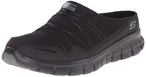 Skechers Sport Women's Air Streamer Fashion Sneaker,Black,8 M US
