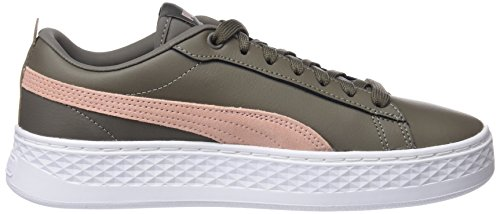 Puma Damen Smash Platform L Sneaker Braun (bungee Cord-peach Beige)
