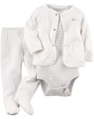 Carters Bodysuit, Cardigan and Pants - Neutral ne