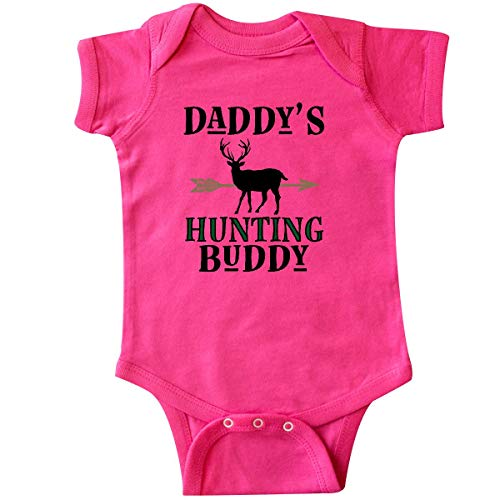 Bodysuit Sports Infant Hunter (inktastic - Daddy Hunting Buddy Bow Hunter Infant Creeper Newborn Hot Pink 31de2)
