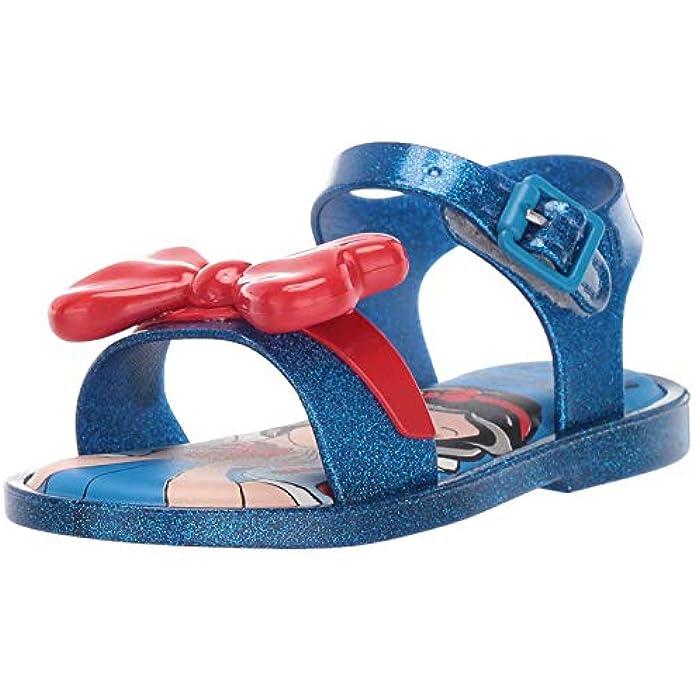 Mini Melissa Unisex-Child Mini Mar Sandal + Snow White Slipper