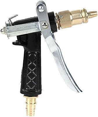 Pistola de agua de jardín Pistola de agua de alta presión, antideslizante ya prueba de golpes Pistola de agua Artículos de jardín Regador casero Pistola pulverizadora adecuada para riego de jardín Lav: