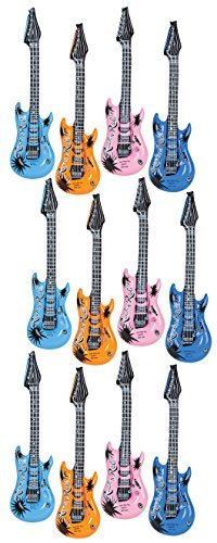 Kangaroo's Inflatable Rock 'N Roll Electric Guitars, 18-Pack]()