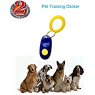 JIALANJIUYU Dog Clickers Colorful & Practical Set of Simple, Convenient & Effective Training Tools for Puppy or Cat - Humanized Scientific Professional Design - Perfect Size & Sound