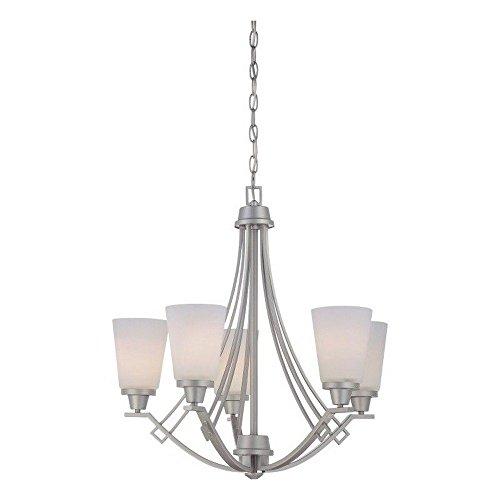 (Philips Lighting TK0011117 Wright Five Light Chandelier Matte Nickel)