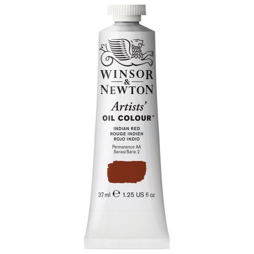 Winsor & Newton Artists' Oil Colour Paint, 37ml Tube, Indian Red ()