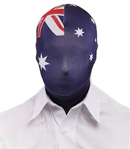 VSVO Unisex Multi Color Flag Printed Spandex Zentai Mask (Made-to-Measure, (Superman Costumes Australia)