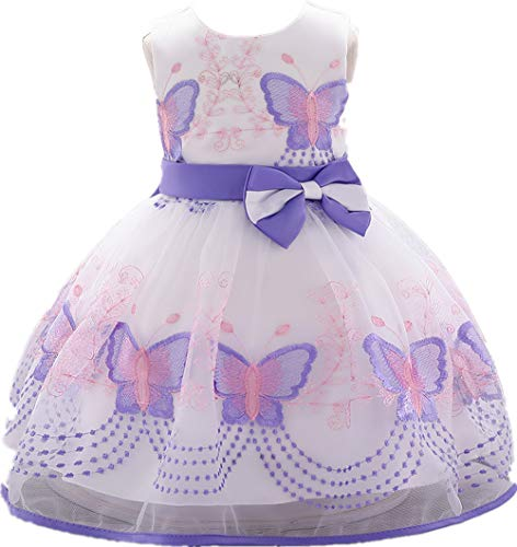 Jup'Elle, Baby Girl Dresses Ruffle Lace Pageant Party Wedding Flower Girl Dress 24Months, Charlotte Lavender
