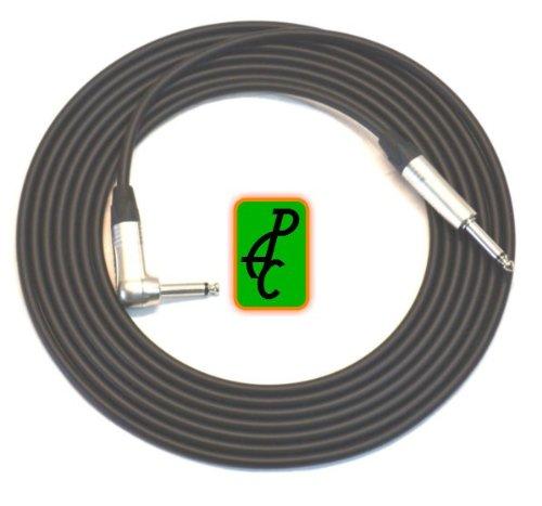 10 ft Canare Guitar / Instrument Cable Black 1/4'' Neutrik TS ST - RA by Premium Audio Cables