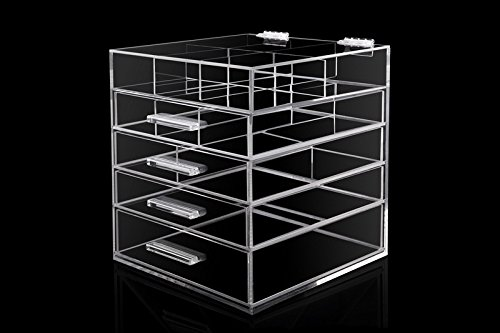 New Year Most Popular Best-Selling Super Low Price MYcase High Quality Fashional 5 Drawers Clear Acrylic Makeup Icebox Jewelry -